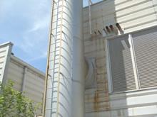 難しい煙突内部のアスベスト除去
